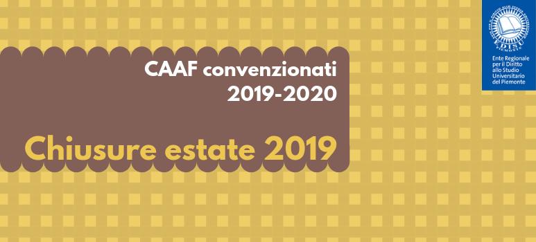 immagine chiusure estate 2019 caaf convenzionati