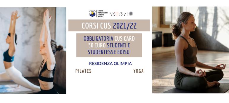 Corsi 2021/22 in collaborazione con il CUS Torino