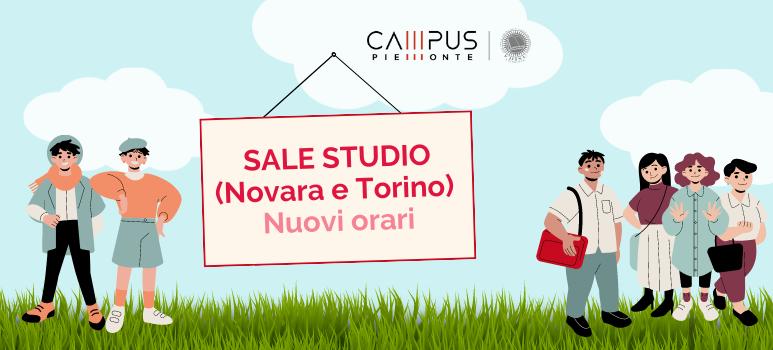 Nuovi orari per le sale studio di Torino e Novara
