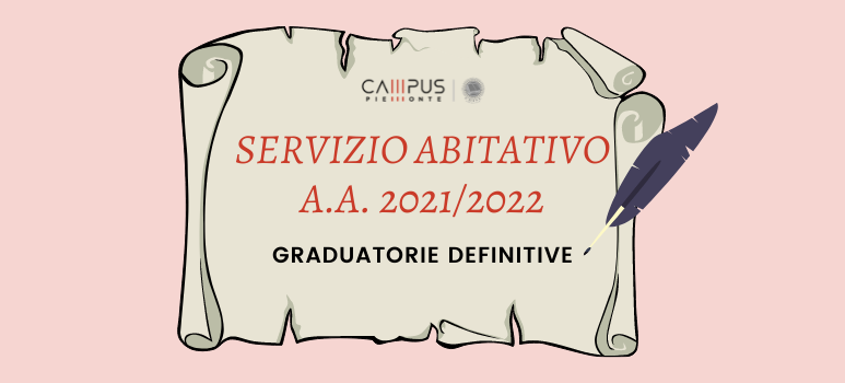 Graduatorie definitive servizio abitativo a.a. 2021/2022