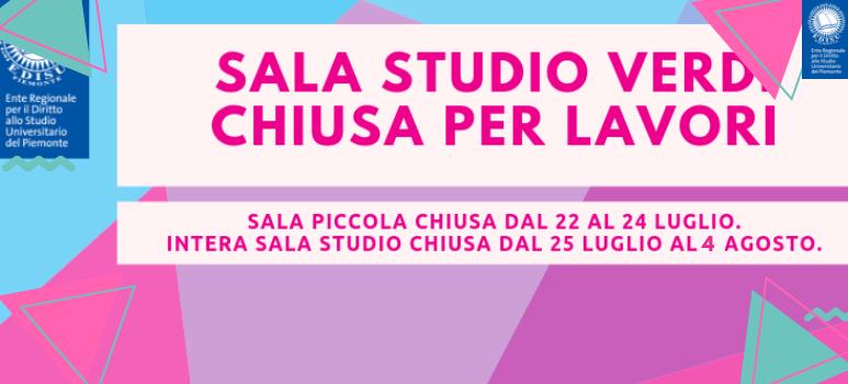 Sala studio Verdi 26 chiude per interventi tecnici