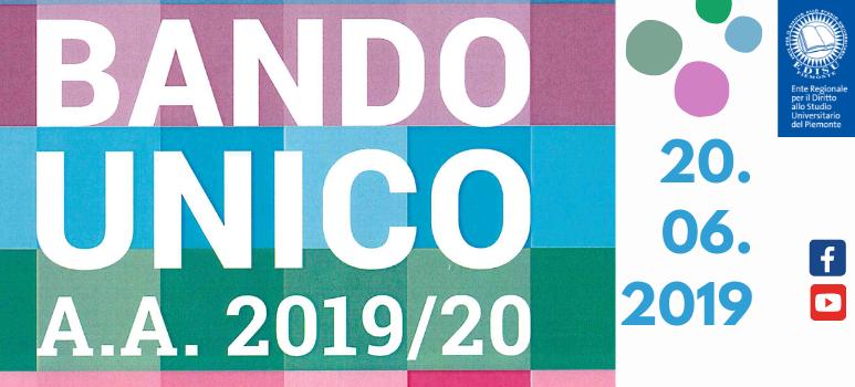 immagine di copertina bando unico 2019_2020